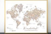 ~ Blursbyai ~ lots of world maps!