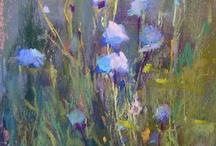 Bloemen geschilderd