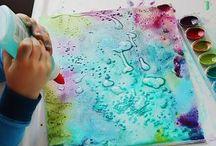 Creando y pintando