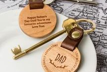 Personalised Father's Day Gifts / Create Gift Love have a huge selection of personalised gifts for dad on Father's Day. With Father's Day gift ideas from wooden personalised keyrings to coasters, we've definitely got dads covered! All of our materials are ethically sourced and products are made in our little workshop in The New Forest, UK.