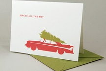 Holiday Letterpress Cards / Examples of holiday cards printed with letterpress.