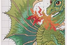 Cross stitch Dragon