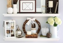 Styling Shelves / Shelf styling inspiration and how-to's.