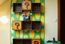 Bedroom/Game room Ideas / 2 rooms becoming 1 - organizing, decorating & combining a bedroom & playroom into a single room.