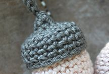 Crochet - Acorns and other items
