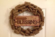 Carrie's Creations / Deco mesh, burlap, and lace wreaths / by Carrie Massey
