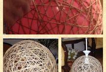 Aydınlatma, lamba, abajur / Jüt ipinden abajur yapımı