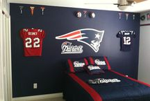 New England Patriots / New England Patriots Jerseys displayed using the Ultra Mount Jersey Display Hanger. A great affordable alternative to jersey frames.