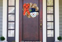Christmas Life / Shut The Front Door by Unique Textile Printing offers a variety of garden flags, door decor, welcome mats and more.  Check us out at www.uniquetextileprinting.us