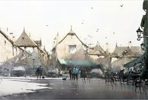 Others' Watercolor Paintings I Like - Jim Oberst / I've learned a lot about painting by studying with, and studying the paintings of, artists whom I admire.