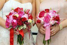 Bridesmaid Bouquet - Red