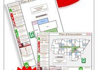 Plan d'évacuation et Signalisation / Création de plan d'évacuation conforme à la norme NF X08-070 Respect des normes NF CE · Zone Ile de France · 20 ans d'expériences. PFI Signalisation bureau d'études sécurité incendie et affichage de sécurité, fabricant de plans d'évacuation, plans d'intervention, plans de chambre, consignes de sécurité...