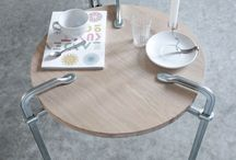 LUCAS & LUCAS - Clamp Table / Dutch design duo LUCAS & LUCAS is inspired by objects from everyday life. By adjusting, adding and combining, they create new products and finish them with a special eye for detail. By adjusting existing steel clamps and adding a beautifully finished 20 mm solid oak table top, they designed a new decorative table with industrial look.