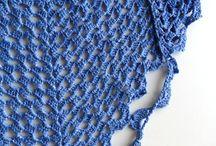 lenços de croche