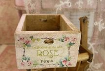 wooden BOXES decoupage