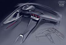 Car interior design / sketch