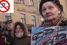 85-летнюю старушку увезли в полицию за поддержку дальнобойщиков