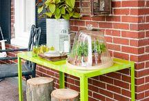 DIY Garden Furniture / Creating Garden furniture from used items.