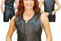 Women's Leather Vests
