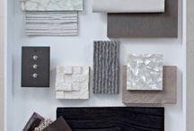 samples board & colour palettes