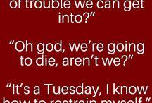 things my oc says