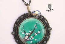 Resin, Hammered, Enameled and Soldered / Jewelry