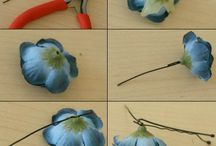 DIY hair clips / Flowers , bobby clips