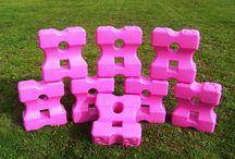 Cavaletti blokken roze