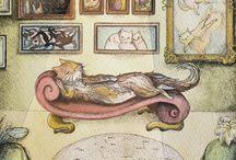My work - Liloo Thetimetraveler / My ilustration work, cats, watercolor, ink, fantasy
