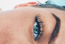 Lashes and freckles