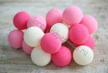 Тайские хлопковые фонарики Cotton balls