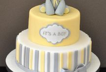 baby shower BOY yello, grey & white