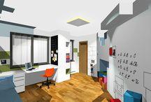 Minecraft / Dětský pokoj, v rezidenčním projektu Central Park Praha v realizaci... Návrh: www.interiorstudio.cz