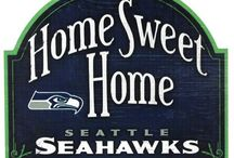 Seahawk Signs and Wreaths