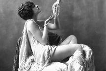Semi nude boudoir black and white