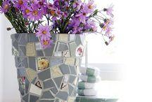 DECORAZIONE DIY CON VASI PER IL GIARDINO / Idee per l'arredamento di casa che tu stesso puoi realizzare mentre si ricicla e si risparmia allo stesso tempo.