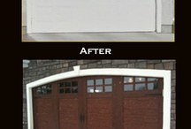 Garage door Before and After Pictures  / Knight Door Services Helping our customers find their curb appeal | 780-457-3667