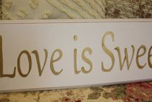 Love is Sweet (So Take a Treat) signs for Candy Bars and other events! / Candy Bar signs!