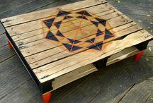 Tables basses en bois palettes / Tables basses en bois de palettes upcycling