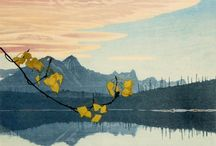 Walter J. Phillips / (1884 – 1963) English-born Canadian painter and printmaker. He is credited with popularizing the colour woodcut in the style of the Japanese, in Canada. Phillips is famous for his woodcuts and watercolour sketches. Common subjects for Phillips included the lakes of Manitoba, the prairies, and in his later years, the Rocky Mountains, where his ashes were scattered.