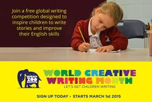 World Creative Writing Month / The aim of World Creative Writing Month is to inspire more children to write in their spare time  The idea is to get children working in class teams to write as many stories as possible. The team with the most words on nightzookeeper.com at the end of the month will win prizes for their class and school.
