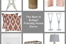 Decorating on a dime! / Inexpensive home decie