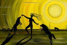 Wild Woman Series by Artist Gaia Orion