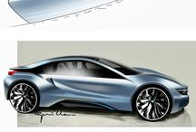 Amazing car design / Sketches, drawings and designs of cars
