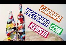 garrafas com papel