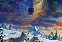 Wölfe moonlight