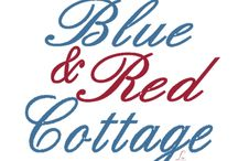 A Little cottage on Liberty Lane / ~cottage in red~blue~white~ / by Katie Kator