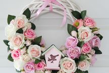 Spring wreath, decorations