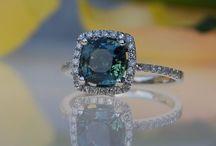 Greenish blue sapphires