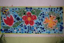 Murales primavera / Decoración de la clase y trabajo plático